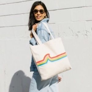 Madewell Insider Icon Canvas Tote Bag NWT